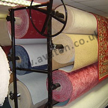 Carpet Rack Double Sided Roll Display Stand