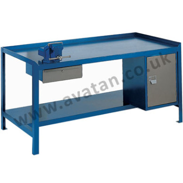 Workshop Bench With Cupboard & Drawer