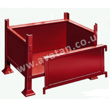 Steel Box Pallet Stillage With Removable Front