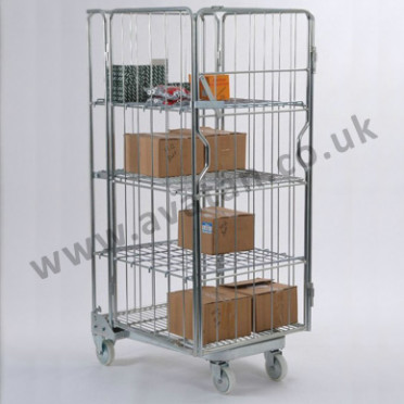 AF4 Nestable roll pallet A frame with shelves