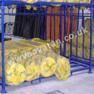 Steel Post pallet insulation demountable