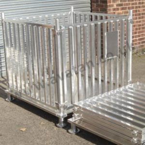 Aluminium pallet stackable demountable heavy duty