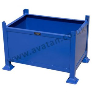 Steel Box Pallet Fixed Sides Metal Stillage Stackable