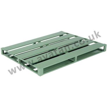 75-Flat-Steel-Pallet-Green-372x372