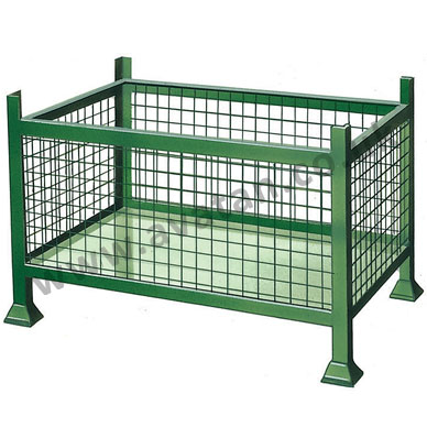 Rigid-Mesh-Cage-Pallet-Stillage-Fixed-Sides