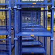 Steel stillage open front cage pallet stackable