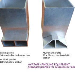 Aluminium profiles for Pallets Framework and Chamfered Skids
