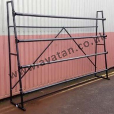 Carpet Rack Single Sided 4m Four Roll Stand