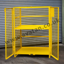 Distribution Cage Pallet - Mesh Stillage with Hinged Front Doors