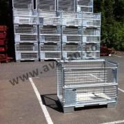Euro Cage pallet rigid Gitterbox galvanised