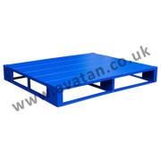 Steel pallet flat close boarded