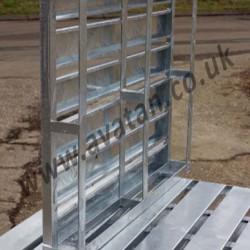 Four Way Entry Galvanised Steel Pallet Slatted Top Deck