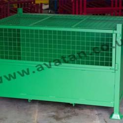 Secure Mesh Front Stackable Box Pallet Mesh Lid