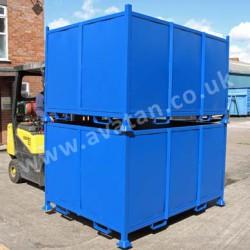 Heavy duty steel stillage recycling box pallet