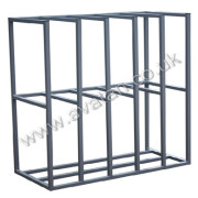 Vertical steel rack sheet storage