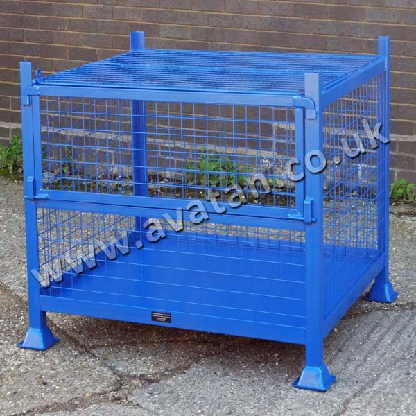 HD Secure Cage Pallet With Half Gate
