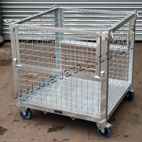 HD Mobile Crane Lift Cage Pallet Half Gate Galvanised